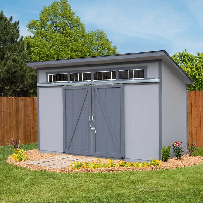 Yardline Santa Clara 12 X 8 Wood Storage Shed Wood Storage Sheds Small Shed Plans Wood Shed Plans