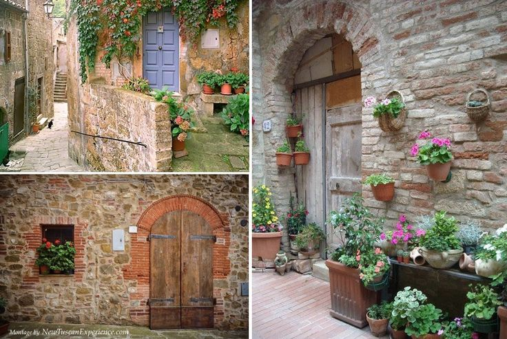Old doors in Tuscany