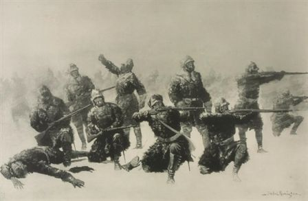 CRAZY HORSE FIGHT   Frederic Remington   Realized Price 360 USD   Dimensions: 22.5 X 15 in.   Lithograph  Signed  http://www.zaidan.ca/Art_Gallery/Auctions/13_08_10_Altermann_Galleries,_Santa_Fe_August_Auction.htm