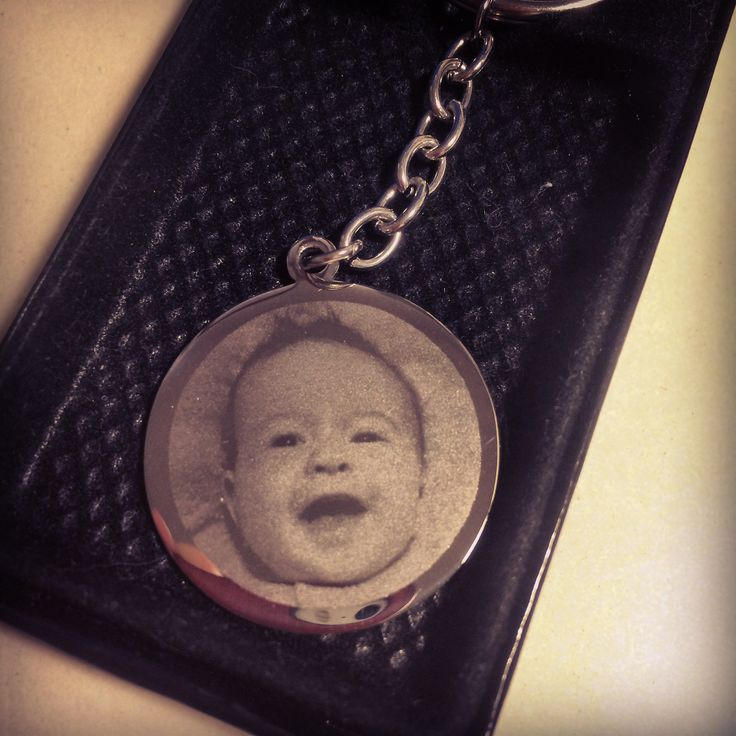 Had a baby lately? This is a keyring I did for a client lately. What a cutie.  #babies  #christening_gifts #new_babies #photo_engraving