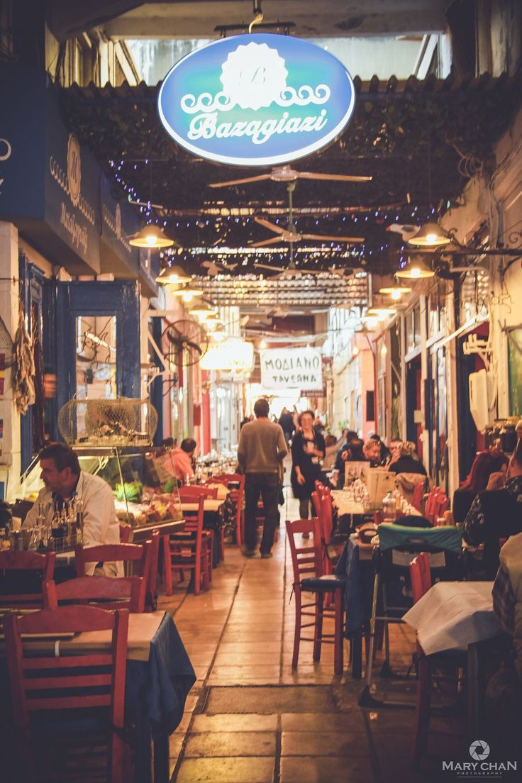 Tavernas in Thessaloniki, Greece
