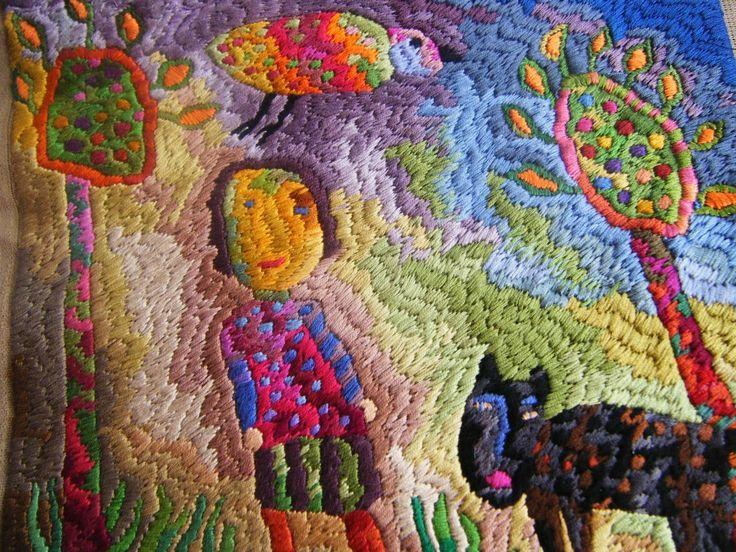 Sue Dove, embroidery artistRugs Hooks, Art Isanat, Textiles Art, Fb Foltbolt, Sue Dove, Embroidery Artists, Fiber Art, Dr. Suess, Fabrics Art