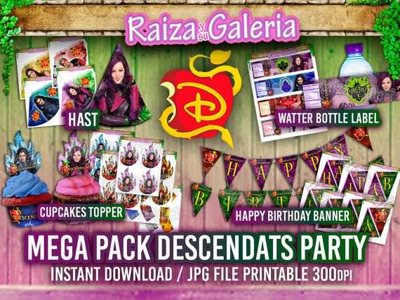 Etiquetas para bottellas de Agua de Disney por RaizaysuGaleria