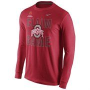 "Ohio State Buckeyes Nike 2015 College Football Playoff National Championship Bound ""Claim The Game"" Long Sleeve T-Shirt - Scarlet"