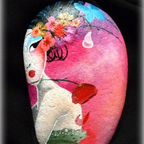 Piedras y Macetas Pintadas con Amor - Aldea