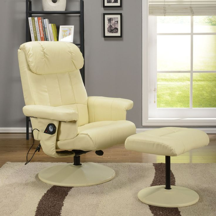KB Furniture 8023 Relax Message Chair With Ottoman