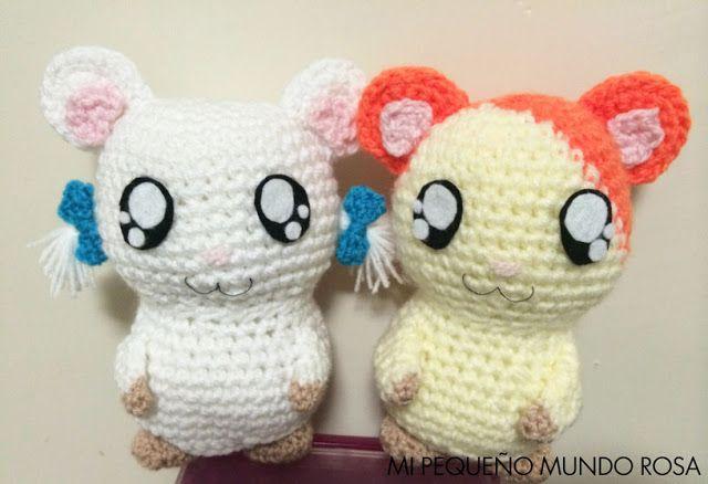 Mi pequeño mundo rosa ♥: Hamtaro a Crochet: Patrón en Español e Inglés / Spanish and English Pattern