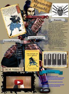 Miyamoto Musashi, also known as Shinmen Takezō, Miyamoto Bennosuke or, by his Buddhist name, Niten Dōraku, was an expert Japanese swordsman and rōnin. #glogster #glogpedia #miyamoto-musashi