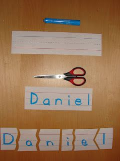 Name Puzzle - great for teaching kids how to spell their name. Many of my 2nd graders don't know how to spell their last names.