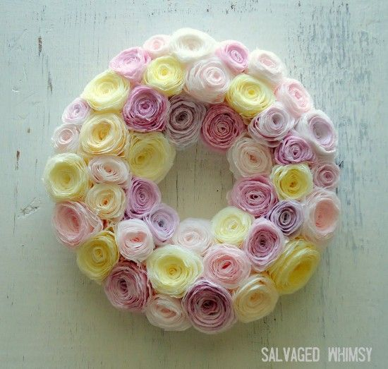 how  to make easter wreaths to make for front door | Easter-DIY-Coffee-Filter-Wreath-550x523.jpg