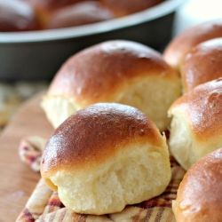 Bake fresh potato rolls at home-- no comparison to store-bought!