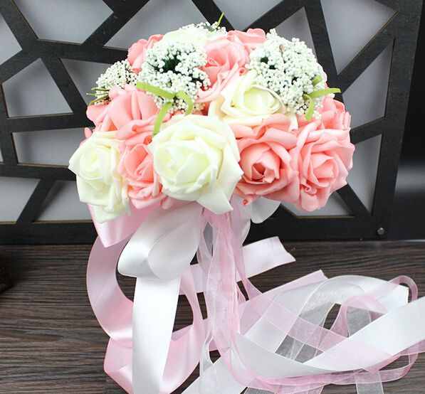 Buquê de casamento decoração de buquê de casamento bonito Foam Rose forma nupcial da dama de honra decoracion boda decoração mariage em Decoração de festa de Casa & jardim no AliExpress.com | Alibaba Group