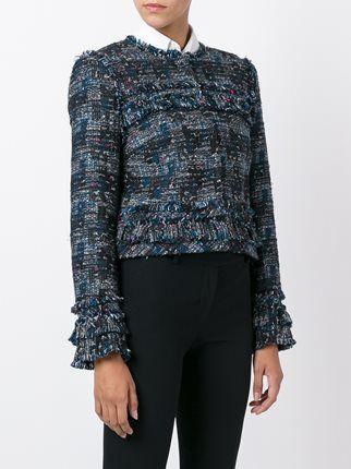Diane Von Furstenberg укороченный твидовый пиджак