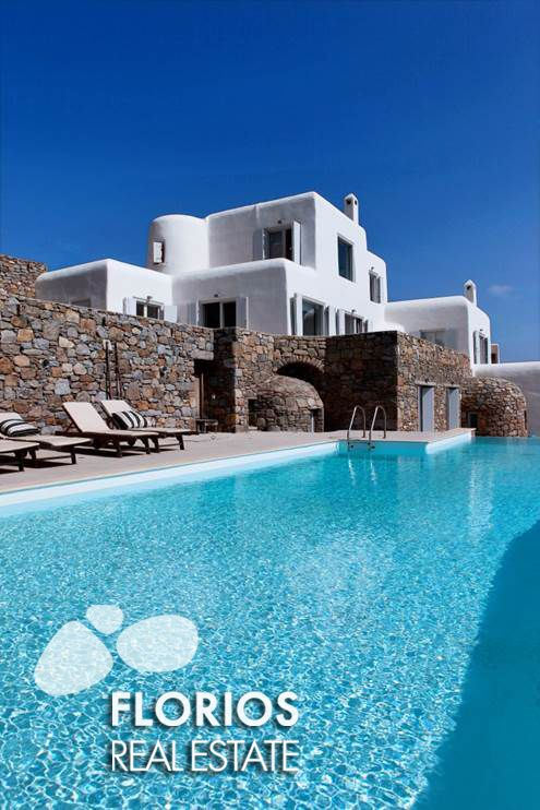 You can see the amazing sunset from all areas of the veranda. Both villas have their own separate entrance and their own electrical connections including telephone and wireless internet. They are located in private grounds surrounded by stone walls. http://www.florios.gr/en/mykonos-property/17.html