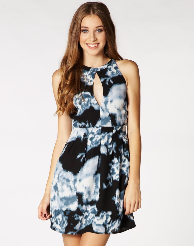 Glassons - Printed open front dress