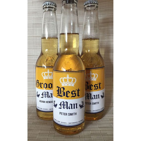 Cute way to ask your wedding party! Personalized beer labels. Toast to the wedding party!