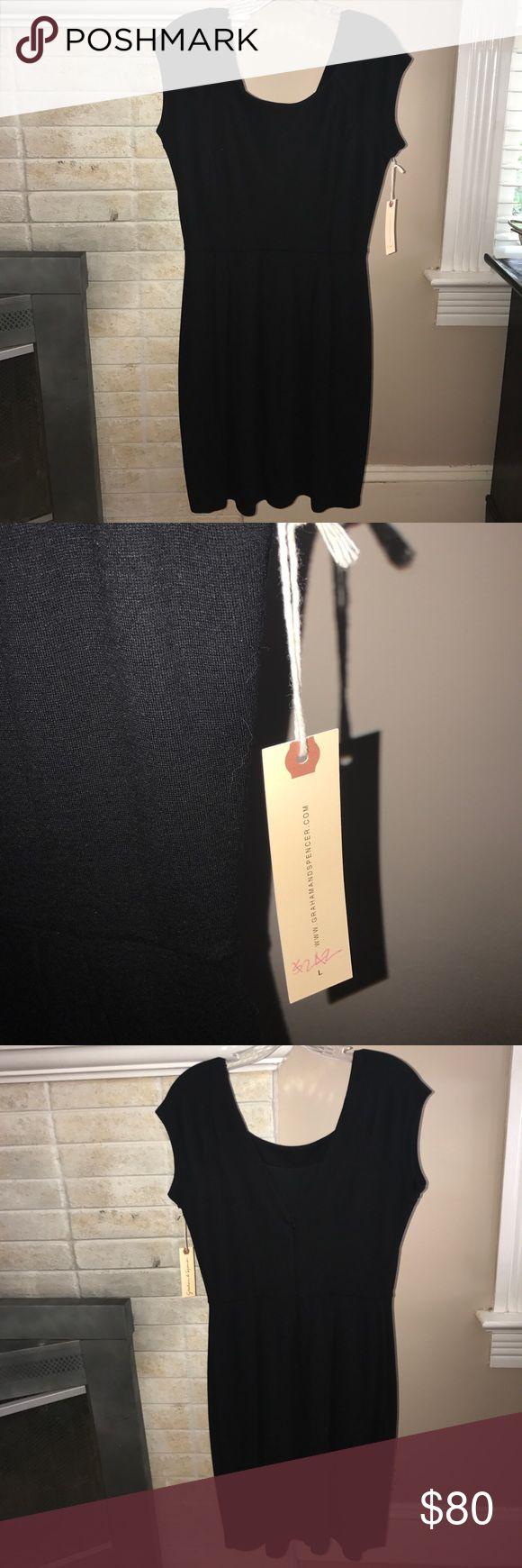 Graham & Spencer Black Cocktail Dress NWT Knee Length Velvet by Graham & Spencer Dresses