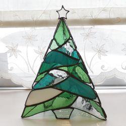ステンドグラス 三角ツリー