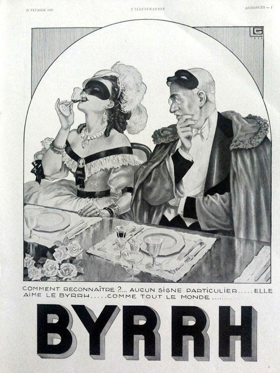 BYRRH french aperitif original art deco poster for by OldMag #Byrrh #aperitif #vintage #poster