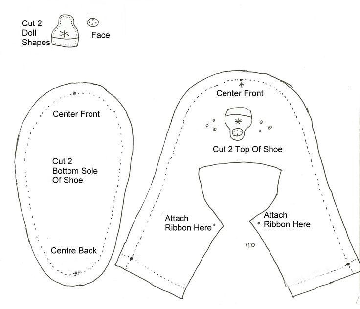 Felt Baby Shoe Pattern \u2013 Matryoshka Doll Sewing and DIY Baby