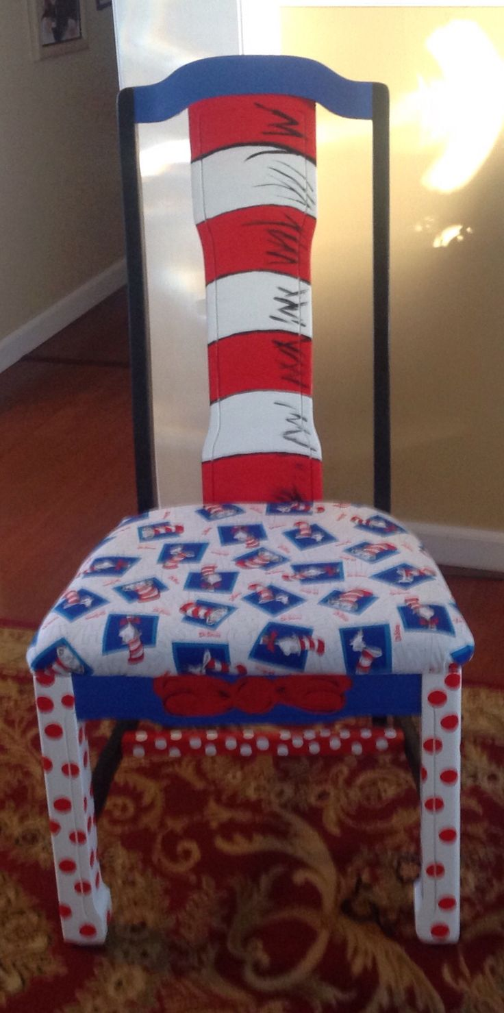 Upcycled chair Dr. Seuss