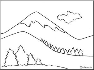Mountain Range Coloring Page Hicoloringpages Sketch Coloring Page