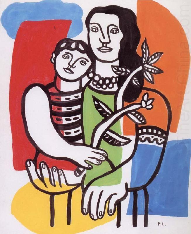 mother and cbild, Fernand Legerfineart-china.com