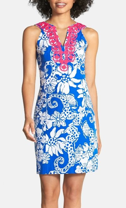 Crushing on this printed Lilly Pulitzer shift dress!
