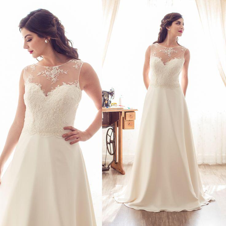 Vestido de novia escote ilusión · Illusion Neckline Wedding Dresses