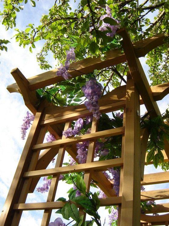 Tuindesign 20 tips en tuinidee n voor een kleine tuin met foto 39 s tuin ontwerp pinterest - Dakbedekking voor pergola ...
