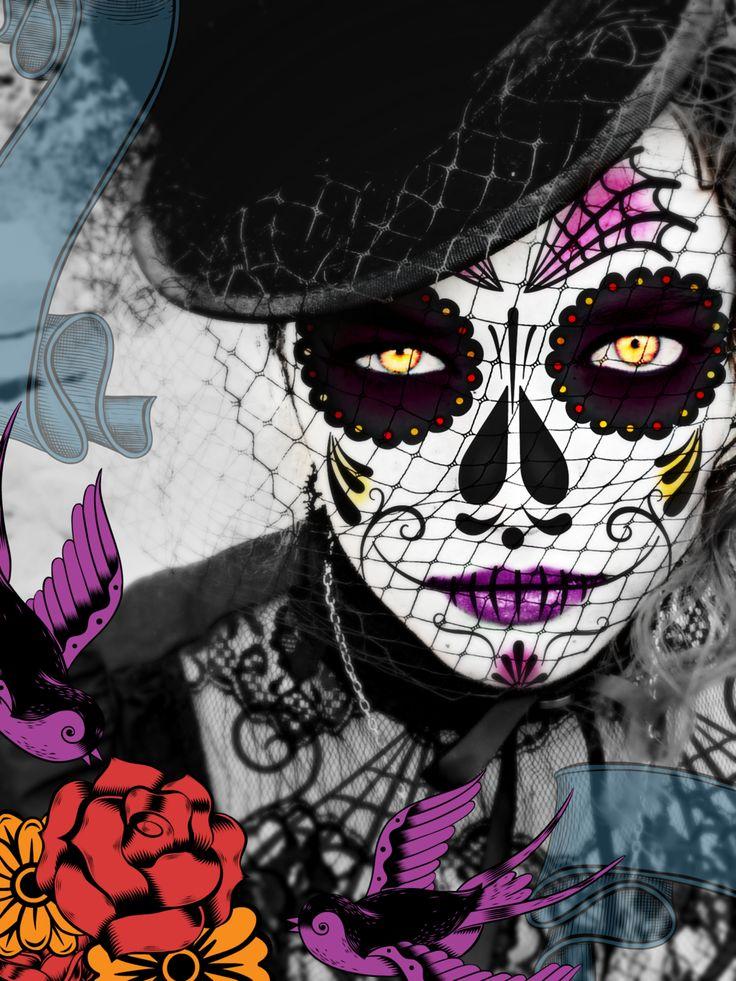 dia delos muertos | El Dia De Los Muertos by MutePoetess on deviantART