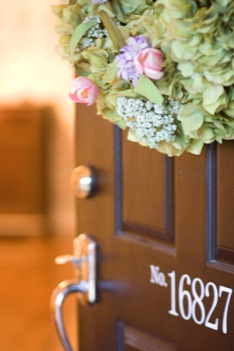 home tour : a place for us | the handmade home: The Doors, Decor Ideas, Aplaceforusblog Com, House Ideas, Front Doors, Outdoor Decor, Address Numbers, Spring Wreaths, House Numbers