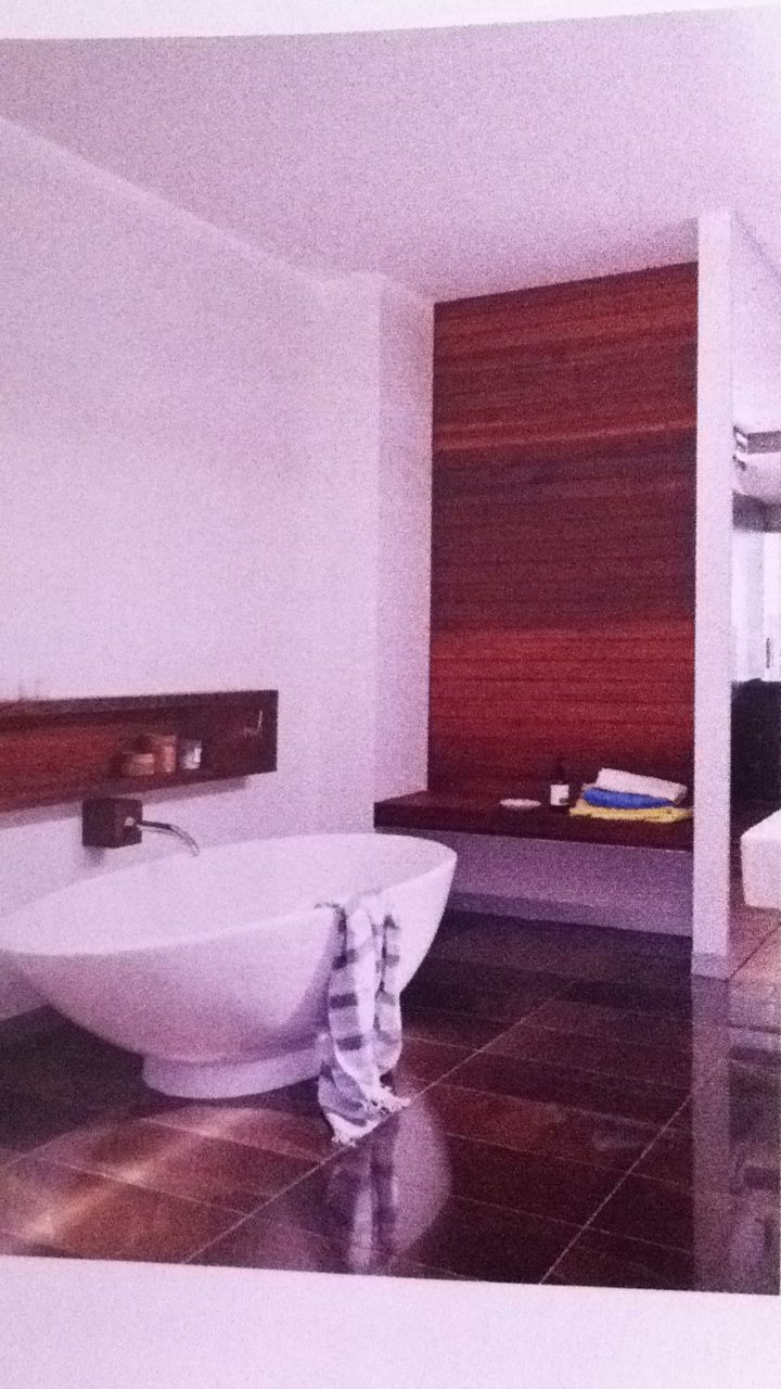 Timber in bathroom