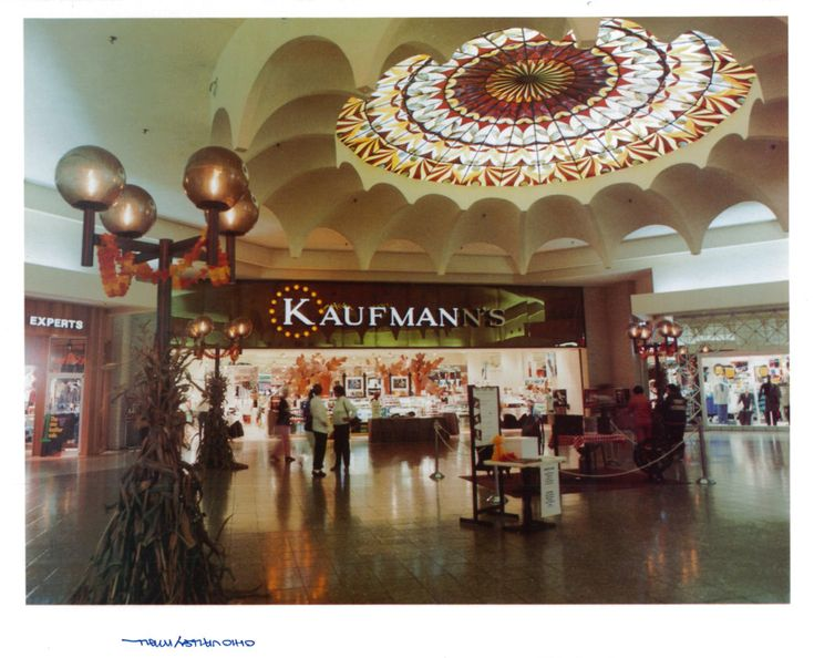 An entrance to Kaufmann's department store, one of the main anchor stores at the Ohio Valley Mall when it opened in 1978.
