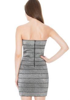 Koktjelové šaty BODYCON BONDAGE MINI