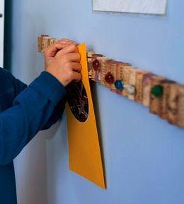 corks as a bulletin board