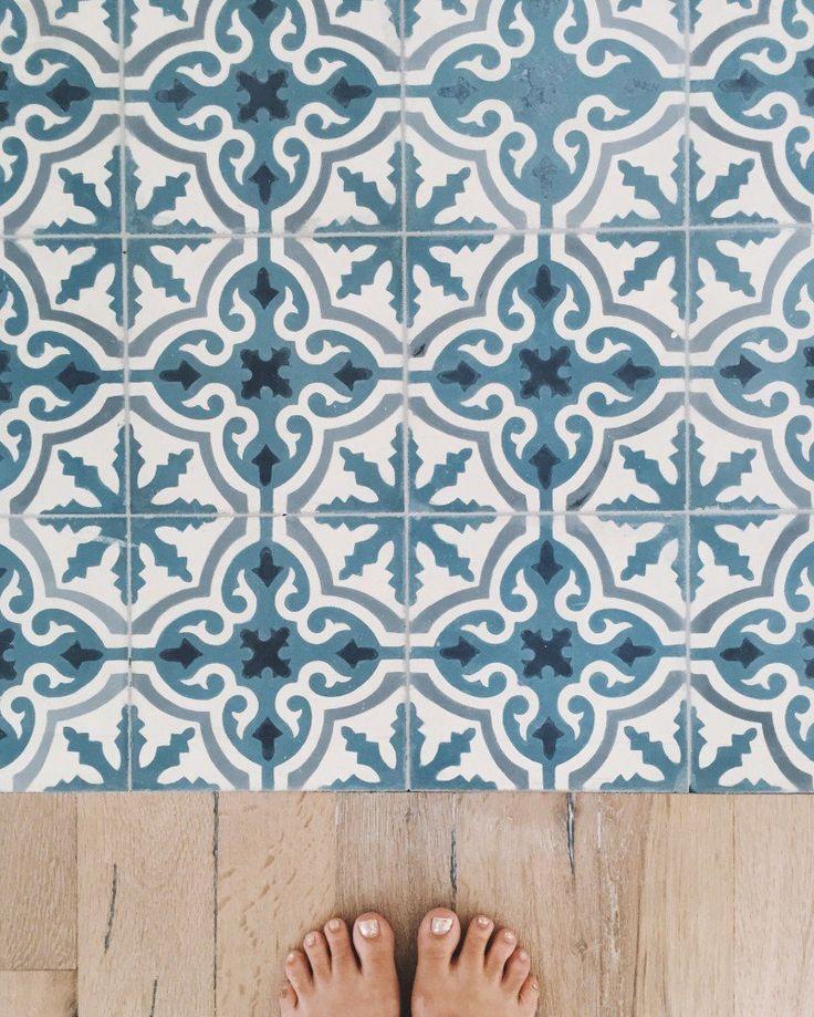 Best Places Ever: Bahamas Beach House | Details: Cuban Tiles