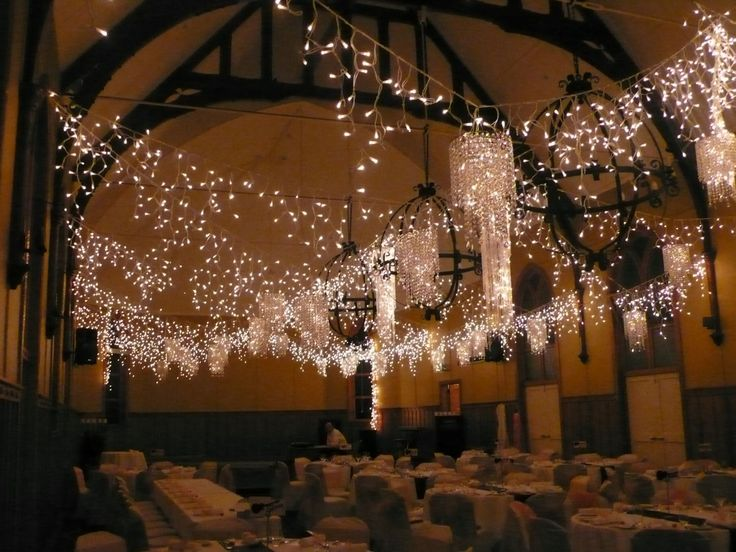 Icicle lights with crystal chandeliers like a starry sky by A Touch of Elegance · Wedding CeilingCeiling CanopyCrystal ... & 48 best Real Wedding Ceiling Canopies images on Pinterest ...