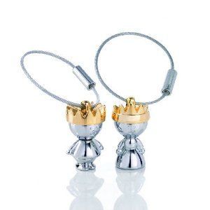 Wedding gift:Troika Little King and Little Queen Keyrings Gift Set (KR938CH)