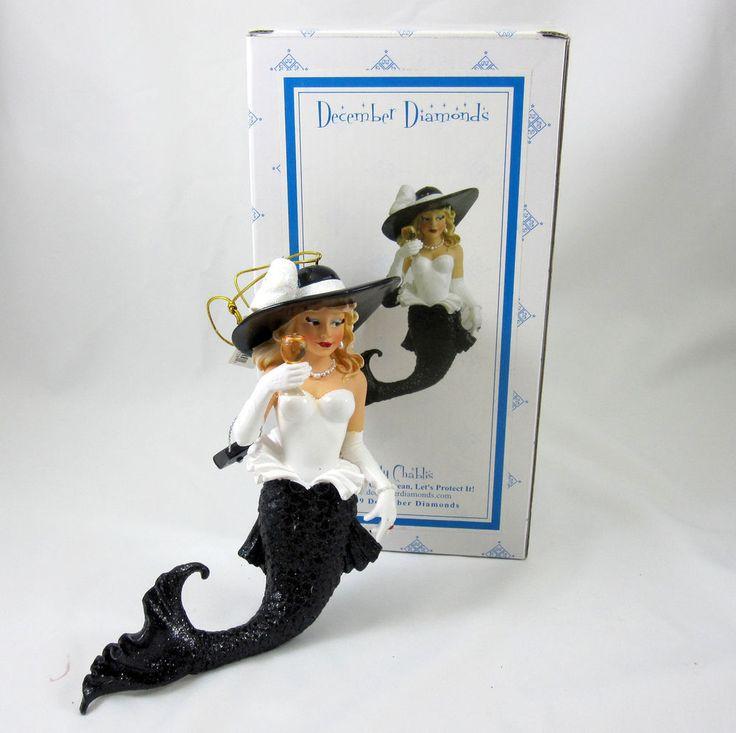 December diamonds mermaid lady chablis wine new in box