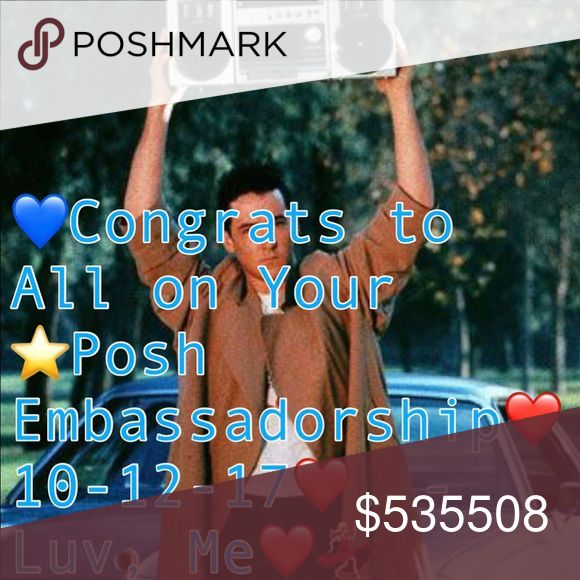 SHARE❤️Congratulations2All⭐️PoshEmbassadors⭐️10/12 Wishing you all heartfelt congratulations 🍾! You all work very very hard & so deserve this.  You are all amazing. I wish I could message every single one of u. But it's ....omg❤️In this beautiful United Posh, we respect each other & treat each other as if we are each other's brothers & sisters. Our excitement to see each other IMPROVE & ACHIEVE is INFECTIOUS & spreads daily. We truly are Role Models & Examples of a Beautiful America. (I'm…