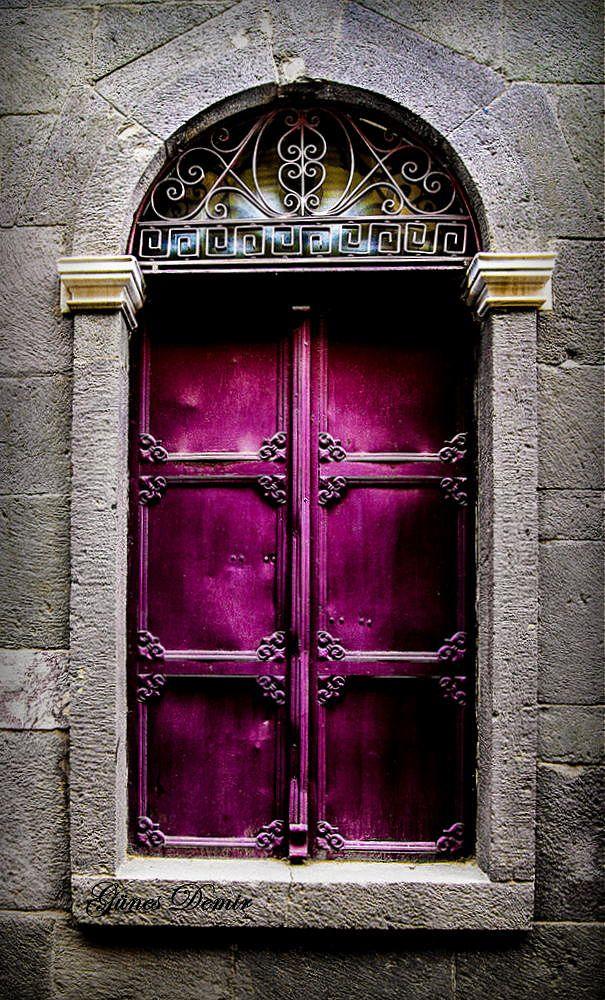 'Closed,' Chios, Greece | Gunes Demir, on 500px. #portal #window #shutters #magenta #hot #pink #purple #fuchsia #color