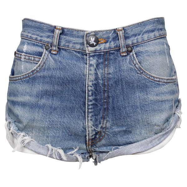 One Teaspoon Salvage Recycled Bandits (160 BRL) ❤ liked on Polyvore featuring shorts, bottoms, short, pants, women, oneteaspoon and short shorts