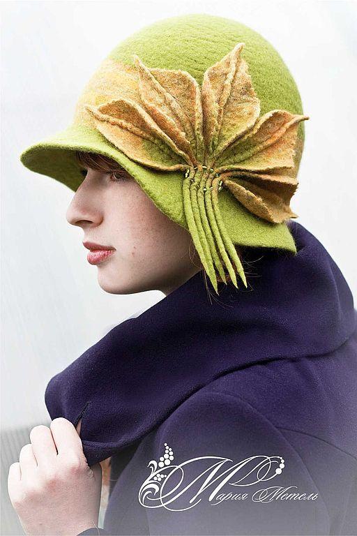 """Купить Шляпка """"Листопад"""" - шляпка, головной убор, авторские головные уборы, шапки, шерсть"""