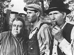 Henry Fonda and Jane Darwell in the film The Grapes of Wrath
