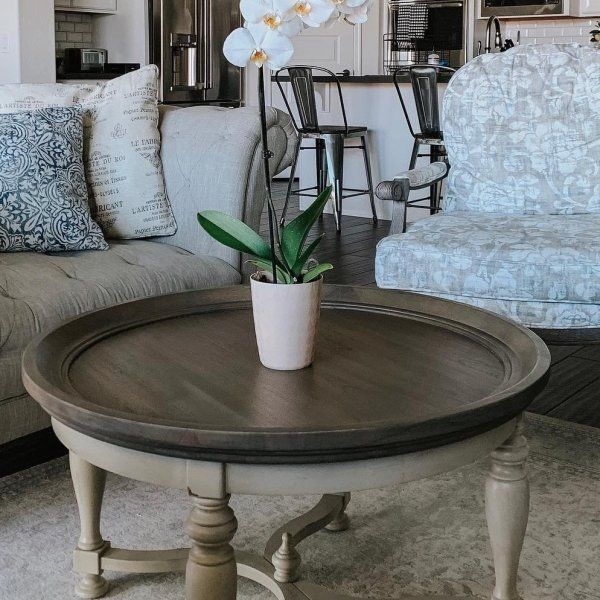 Amelia Cafe Brown Black Round Coffee Table In 2019 Round