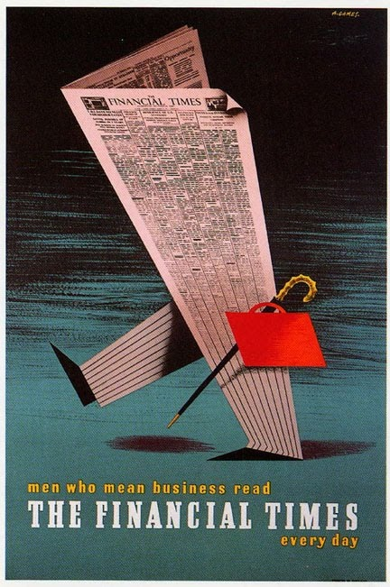 The Financial Times Poster (1951) | Abram Games (1914 - 1996)
