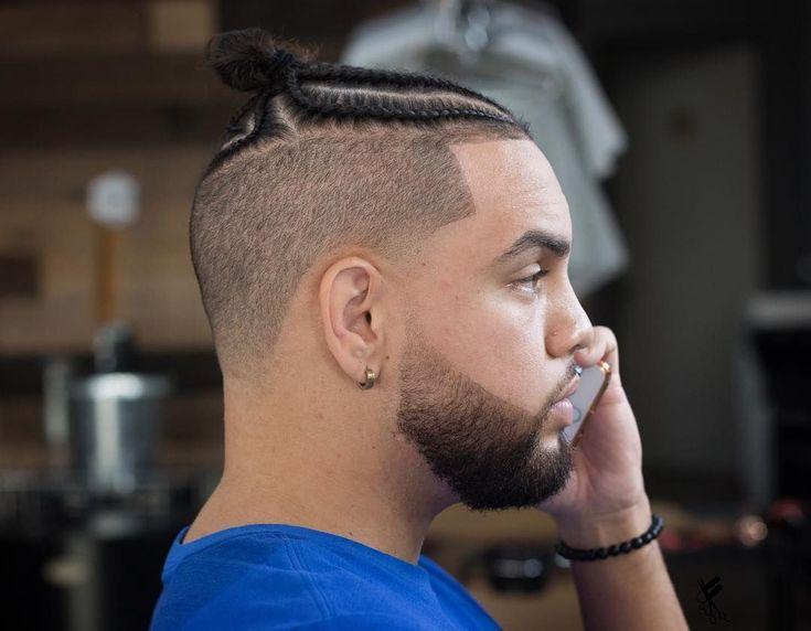 Braid Hairstyles For Men #braidsformen Man bun braids with a high fade #menshair…   – mediumhaircut