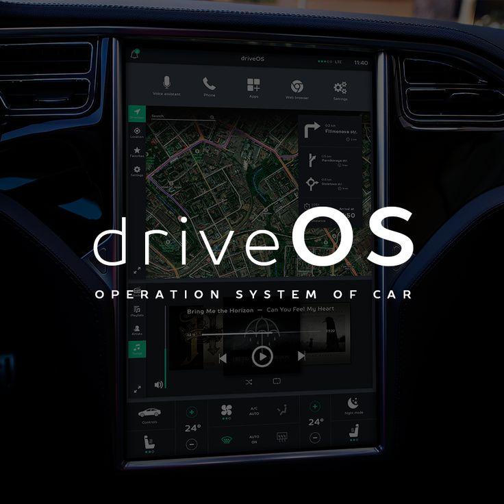"""查看此 Behance 项目""""Operation system of a car""""https//www"""
