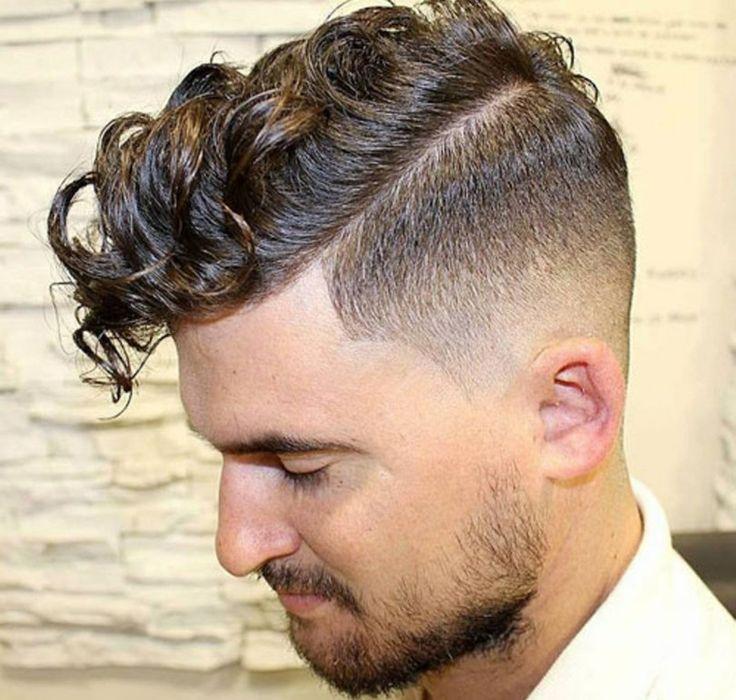 peinados modernos para hombres hipster de pelo rizado